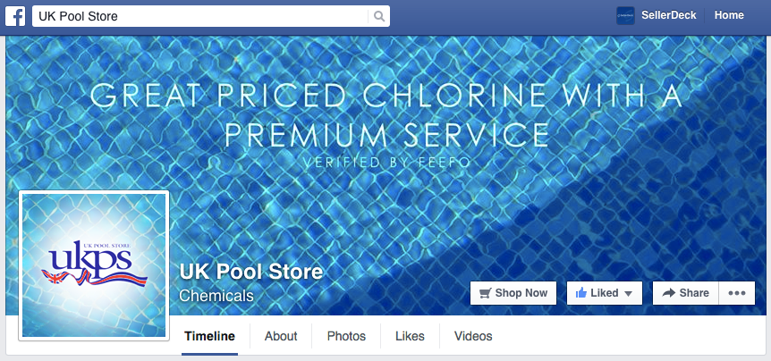 UK Pool Store Facebook Header