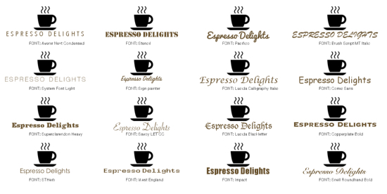 Coffee shop logo examples