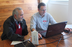Demonstrating Sellerdeck 2013 to Mario Loulie of ITQ Solutions