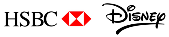 HSBC and Disney Logos